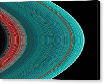 The Rings Of Saturn Canvas Print by Anonymous