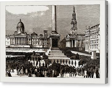 The Rioting In The West End Of London, Uk Canvas Print by Litz Collection
