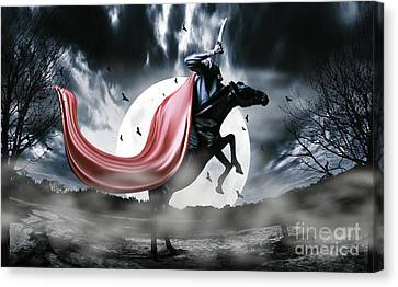 The Rise Of The Headless Horseman Canvas Print