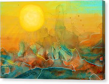 Abstract Digital Canvas Print - The Rising Sun by Sandi OReilly