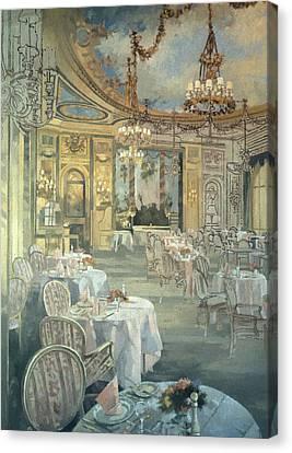 The Ritz Restaurant Oil On Canvas Canvas Print