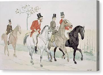 The Rivals Canvas Print by Randolph Caldecott