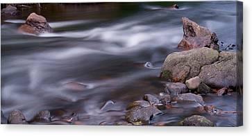 The River Flows 3 Canvas Print