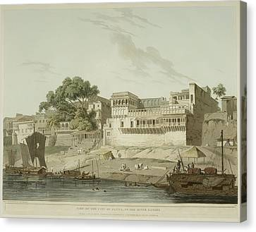 The River Ganges And Patna City Canvas Print by British Library