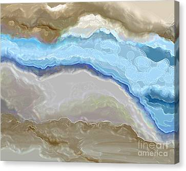 Canvas Print featuring the digital art The River by Lena Wilhite
