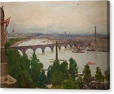 The River Pageant, As Seen Canvas Print