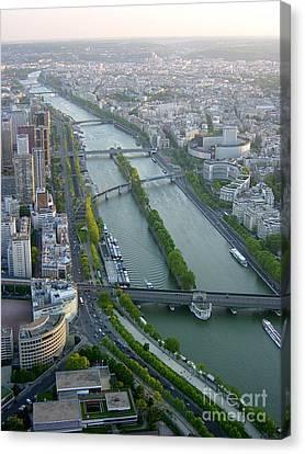 Canvas Print featuring the photograph The River Seine by Deborah Smolinske