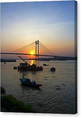 The River Canvas Print by Sourav Bose