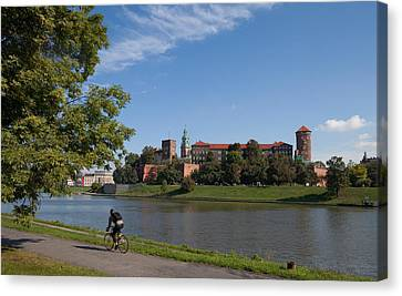 The River Wisla Passing The 11th Canvas Print by Panoramic Images