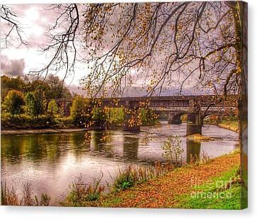 The Riverside At Avenham Park Canvas Print