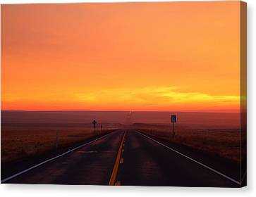 Canvas Print featuring the photograph The Road Goes On And On by Lynn Hopwood