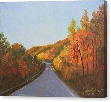 The Road Home Canvas Print by Sherri Anderson