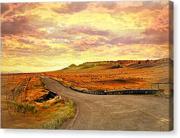 Canvas Print - The Road Less Trraveled Sunset by Marty Koch