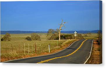 The Road Canvas Print by Rima Biswas
