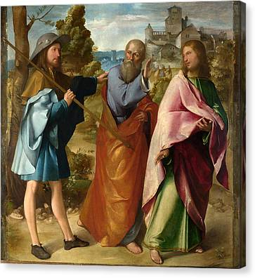 The Road To Emmaus Canvas Print by Altobello Melone