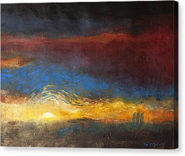 Sacred Canvas Print - The Road To Emmaus by Daniel Bonnell