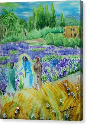 The Road To Emmaus Canvas Print by Melanie Palmer