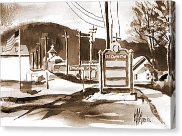 The Road To Farmington Pilot Knob Missouri Canvas Print