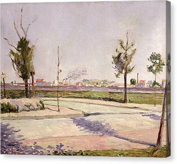 The Road To Gennevilliers, 1883 Oil On Canvas Canvas Print by Paul Signac