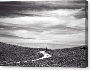 The Road To Nowhere Canvas Print by Peter Tellone