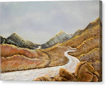 Canvas Print featuring the painting The Road To Nowhere by Susan Culver