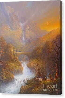 The Road To Rivendell The Lord Of The Rings Tolkien Inspired Art  Canvas Print by Joe  Gilronan