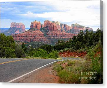 The Road To Sedona Canvas Print