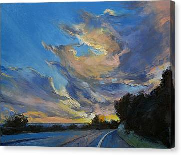 The Road To Sunset Beach Canvas Print by Michael Creese