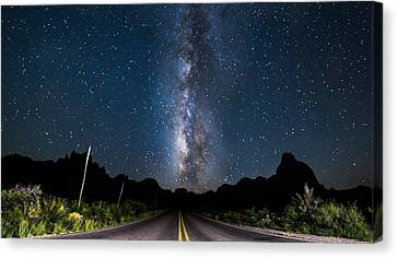 The Road To The Chisos Canvas Print