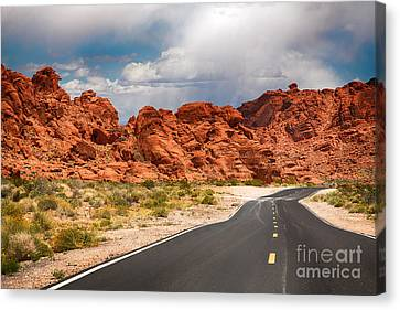 The Road To The Valley Of Fire Canvas Print by Jane Rix
