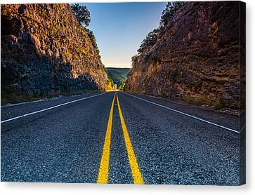The Road To Utopia Canvas Print by Jeffrey W Spencer