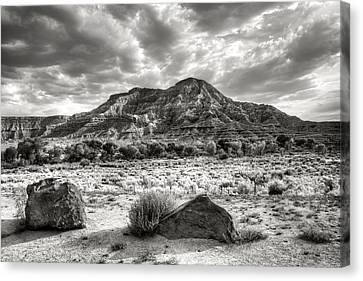 Canvas Print featuring the photograph The Road To Zion In Black And White by Tammy Wetzel