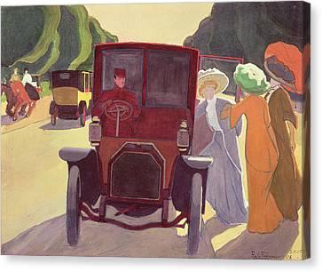 The Road With Acacias Canvas Print by Roger de La Fresnaye