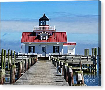 The Roanoke Marshes Lighthouse  Canvas Print