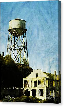 Alcatraz Canvas Print - The Rock Alcatraz Island 1 Of 4 by Jani Bryson