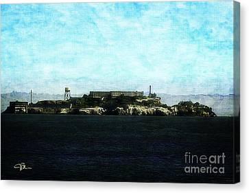 Alcatraz Canvas Print - The Rock Alcatraz Island 4 Of 4 by Jani Bryson