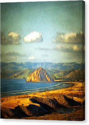 The Rock At Morro Bay 2 Canvas Print by Barbara Snyder