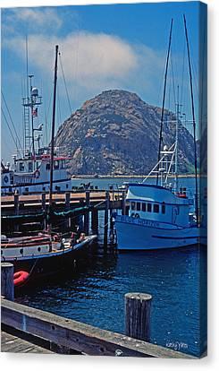 The Rock At Morro Bay Canvas Print by Kathy Yates