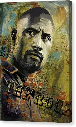 The Rock Canvas Print by Corporate Art Task Force