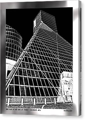 The Rock Hall Cleveland Canvas Print by Kenneth Krolikowski