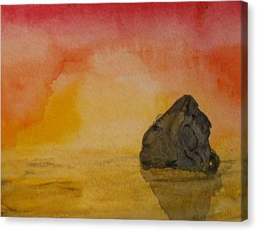The Rock Canvas Print by Thomasina Durkay