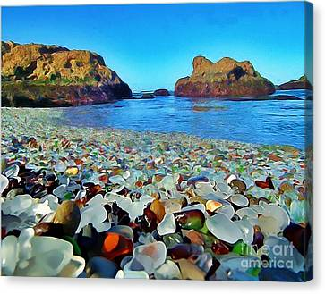Glass Beach In Cali Canvas Print