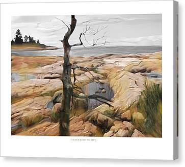The Rocks Of The Bay Canvas Print by Bob Salo
