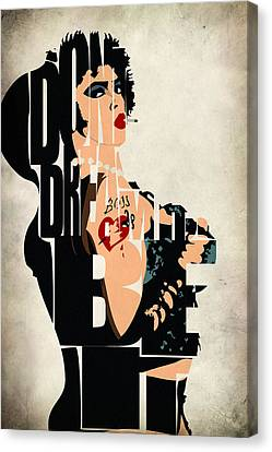 Mix Media Canvas Print - The Rocky Horror Picture Show - Dr. Frank-n-furter by Inspirowl Design