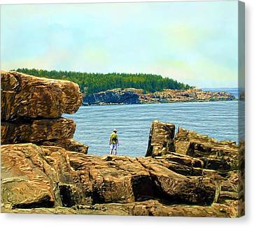 Rocky Maine Coast Canvas Print - The Rocky Majesty Of Maine by Ric Darrell