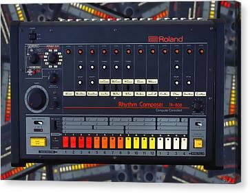 The Roland Tr-808 Rhythm Composer Drum Machine Canvas Print by Gordon Dean II