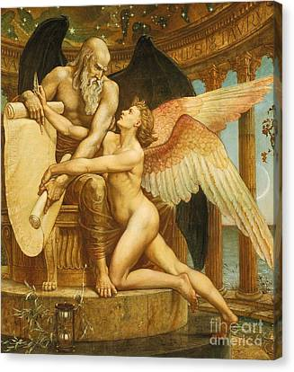 The Roll Of Fate Canvas Print by Walter Crane