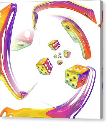 The Roll Of The Dice Canvas Print by Liane Wright