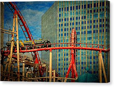 The Roller Coaster Canvas Print by Maria Angelica Maira