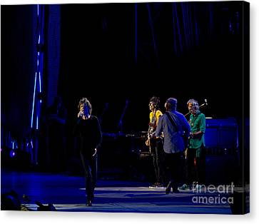 The Rolling Stones In Concert In Rome On June 24th 2014 Canvas Print by Judith  Flacke